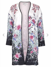 Ladies Marks and Spencer per Una Multi Floral Oriental Summer Jacket Size 14
