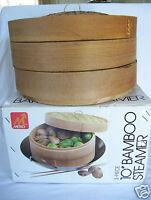 """Metro 3-piece 10"""" Bamboo Steamer"""