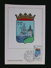 SPAIN MK 1965 ESCUDO SANTANDER WAPPEN BLAZON MAXIMUMKARTE MAXIMUM CARD MC c5963
