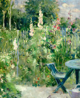 Roses Tremieres Berthe Morisot Fine Art Print on Canvas Home Decor Giclee Small
