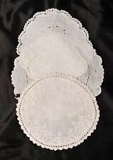 3 round Vintage Linen Doilies