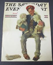 Norman Rockwell April 18, 1931 Saturday Evening Post, COVER ONLY