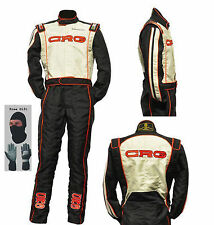 CRG Go Kart Race Suit CIK FIA Level 2 with free gift Gloves and balaclava