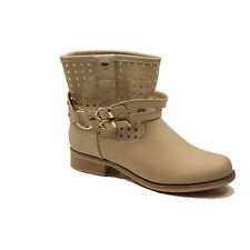 WOMENS COWBOY FLAT LOW BLOCK HEEL ANKLE BOOTS BOOTIES LADIES SHOES SIZE 3-8