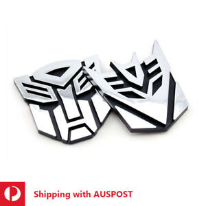 3D Transformers LOGO Sticker Metal Chrome Autobots Decepticon TF Decals Badge