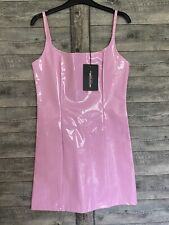 Pretty little thing Pink PVC Dress size 10 BNWT Barbie / PLT Lined
