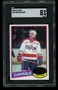 1980 Topps Mike Gartner Hockey #195 SGC 8 NM-MT RC ROOKIE