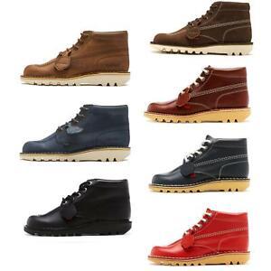 Kickers Kick Hi Core & Hi Top Leather & Nubuck Shoes Ankle Boots 1KF0000101