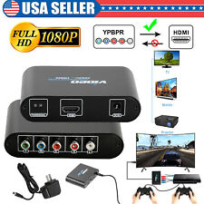 5 RCA Component RGB YPbPr To HDMI HDCP Video Audio Converter HDTV DVD Projector