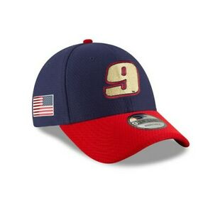 Chase Elliott #9 Red & Blue U.S. Flag 9Forty Hat - Made by New Era