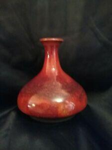 Modern Brown Bud Vase Signed