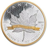 2018 $10 Canadian Maple Leaf 30th Anniversary .9999 2 oz Silver Coin Proof