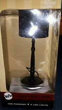 RETRO LAMP BLACK DESKTOP USB POWERED FOR COMPUTER 2 LED LIGHTS NEW IN BOX