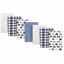 Little Treasure Flannel Burp Cloths 7-Pack, Handsome Fella