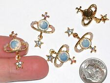 1pc Miniature Dollhouse little crystal Moon star Planets bail opal flatbacks