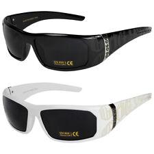 2er Pack Locs 2003 Choppers Bikerbrille Sonnenbrille Herren Damen schwarz weiß