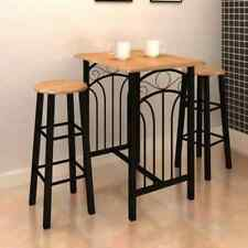Modern Breakfast Bar Kitchen Table and Chairs Coffee High Stools Furniture MDF