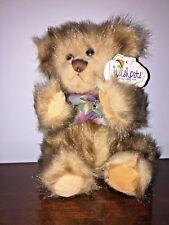 "Wishpets SABLE Brown Teddy Bear 9"" Plush Stuffed Animal w/Tags"