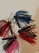 1/4 Oz Mushroom Flippin Jigs 4 Different Colors Great Baits Made In Usa Set #1