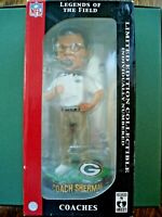 Coach Mike Sherman Legends Of The Field Bobblehead Limited Ed Green Bay Packers