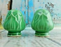 Vintage Artichoke Salt Pepper Shakers Porcelain/Ceramic