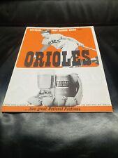 1964 BALTIMORE ORIOLES VS DETROIT TIGERS SCORE BOOK BROOKS ROBINSON AL KALINE