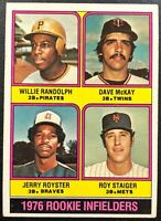 RANDOLPH/MCKAY/ROYSTER/STAIGER 1976 TOPPS VINTAGE ROOKIE CARD #592