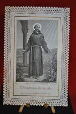 Ancien Canivet St François d'Assise F. SANGUINETTI N° 358 Image Pieuse Prière