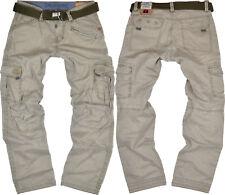 Timezone Homme Pantalon de Combat Benito Dirty Sable Beige Cargo Extérieur Jeans