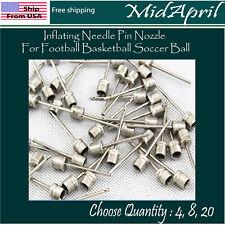 Sports Ball Inflating Air Pump Needle Pin Nozzle Soccer Basketball Football