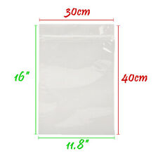 More details for xx large grip seal zip lock polythene resealable clear plastic bags 1-100,000