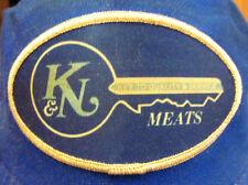 K&N MEATS vtg trucker cap Seattle vtg baseball hat distributor WA key logo 1970s