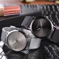 Hot Men Women Luxury Classic Mesh Belt Analog Quartz Stainless Steel Wrist Watch