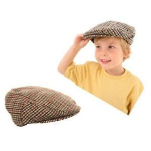 NEW HAWKINS KIDS/BOYS/CHILDRENS FLAT CAP TWEED TRADITIONAL WOOL BLEND 52-56CM