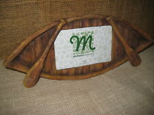 Canoe & Paddles Picture Frame Rustic Decor by Midwest CBK