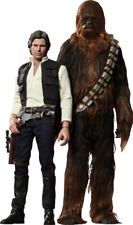 Star Wars Han only and Chewbacca Sixth Scale Action Figure Hot Toys MMS261 & 262