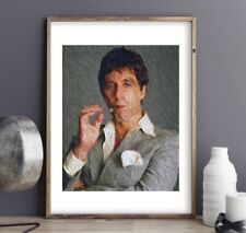 Tony Montana Scarface Painting Art Print - Al Pacino A4 Size Poster
