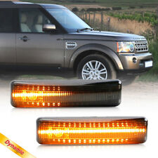 Smoke Dynamic Amber LED Side Marker Lamp for 06-13 Range Rover Sport LR2 LR3 LR4