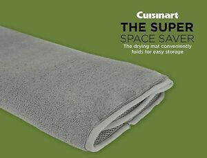 "Cuisinart Dish Drying & Absorbent Drying Mat, 16""x18"" Grey - One Piece Mat"