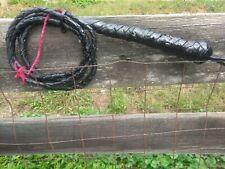 Genuine Braided Leather 6ft. Bull Whip Bullwhip W/Wrist Strap