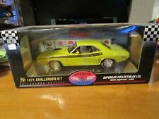 HIGHWAY 61 1/18 SUPERCAR *VHTF* GREEN 1971 DODGE CHALLENGER R/T *READ* VERY NICE