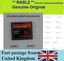 8GB SanDisk Extreme CF Compact Flash Memory Card For Digital Camera Canon Nikon