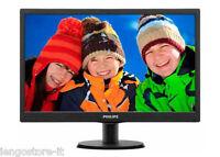 MONITOR SCHERMO PC 18,5 LED-HD PHILIPS 193V5LSB2 VGA WIDE 19 POLLICI ATT. VESA