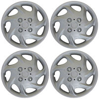 """4pc Hub Cap ABS Silver 15"""" Inch Rim Wheel Cover Universal Hubcaps Covers Caps"""