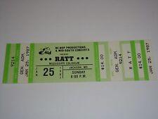 RATT 1987 VINTAGE UNUSED CONCERT TICKET JACKSON COLISEUM STEPHEN PEARCY USA