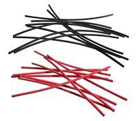 2 Meter Schrumpfschlauch rot schwarz 1,2 auf 0,6 mm ideal für dünne Litze + LEDs