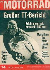 Motorrad 14 68 Aermacchi 350 Kawasaki Avenger Greeves 1968 Zweitakt two stroke