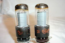 Matching Pair 1961 GE 6V6GT 6V6 tubes - tested good, gray plates