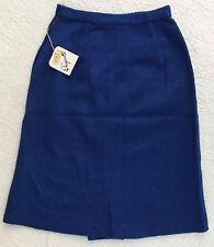 Vintage skirt size 8-10 Mohair and wool PIERRE ELEGANTE 1950s royal blue UNUSED