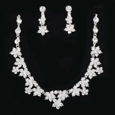 Wedding/party Bridal Jewellery Necklace Earring Set Rhinestone Crystal